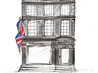 Temperley London Bruton Street Flagship Sketch