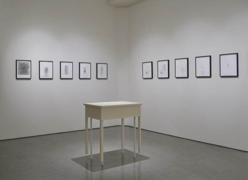 Roy-McMakin-Some-Drawings-and-a-Table-Installation-View-1-med-res-800x581