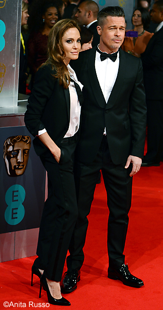 BAFTAS 2014 ANGELINA JOLIE, BRAD PIT @The Royal Opera House London 16th February 2014 photo ©Anita Russo