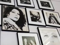 Ultra Violet wall of photos at her studio NYC-The Untitled Magazine