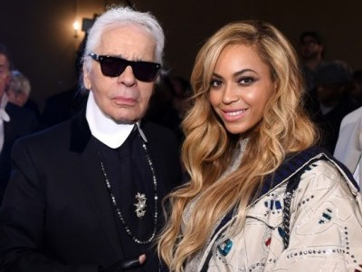 Karl Lagerfeld and Beyoncé.