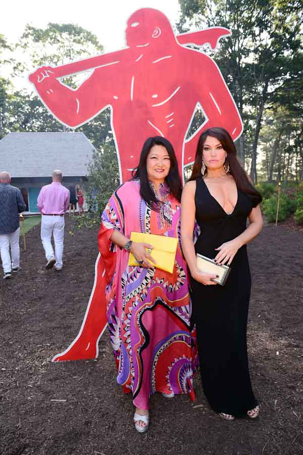 Susan Shin, Kimberly Guilfoyle==Circus of Stillness... the power over wild beasts?: The 22nd Annual Watermill Center Summer Benefit & Auction==The Watermill Center, Watermill, NY==July 25, 2015==©Patrick McMullan==Photo - Sean Zanni/PatrickMcMullan.com====