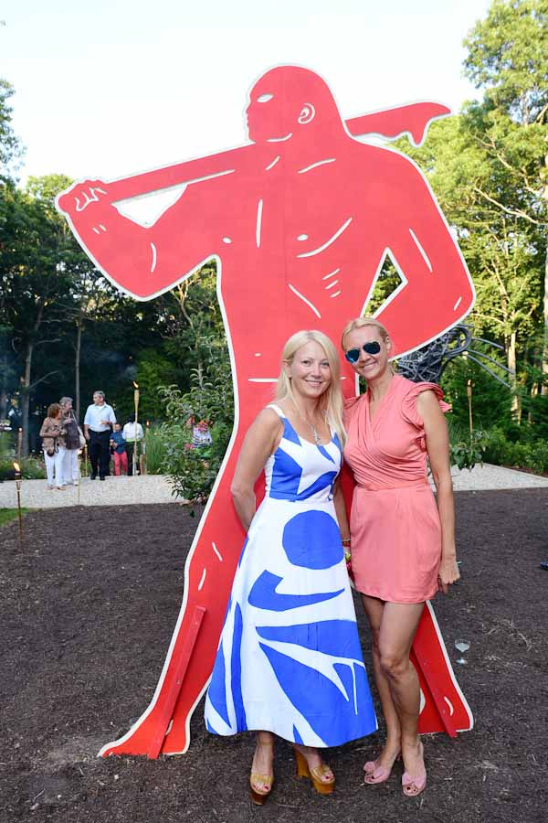 Janna Bullock, Alisa Roever==Circus of Stillness... the power over wild beasts?: The 22nd Annual Watermill Center Summer Benefit & Auction==The Watermill Center, Watermill, NY==July 25, 2015==©Patrick McMullan==Photo - Sean Zanni/PatrickMcMullan.com====