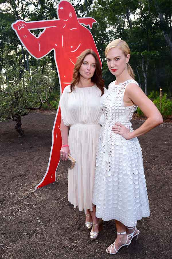 Yana Balan, Polina Proshkina==Circus of Stillness... the power over wild beasts?: The 22nd Annual Watermill Center Summer Benefit & Auction==The Watermill Center, Watermill, NY==July 25, 2015==©Patrick McMullan==Photo - Sean Zanni/PatrickMcMullan.com====