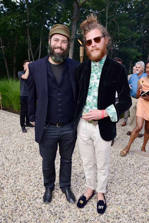 Andy Cross, Nate Hitchcock==Circus of Stillness... the power over wild beasts?: The 22nd Annual Watermill Center Summer Benefit & Auction==The Watermill Center, Watermill, NY==July 25, 2015==©Patrick McMullan==Photo - Sean Zanni/PatrickMcMullan.com====