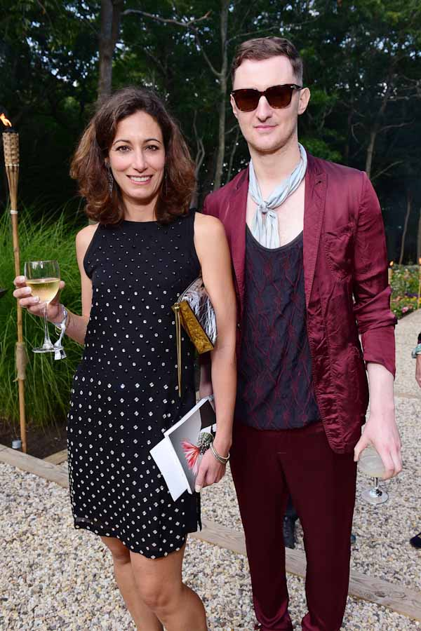 Madeleine Paternot, Dimitry Komis==Circus of Stillness... the power over wild beasts?: The 22nd Annual Watermill Center Summer Benefit & Auction==The Watermill Center, Watermill, NY==July 25, 2015==©Patrick McMullan==Photo - Sean Zanni/PatrickMcMullan.com== ==