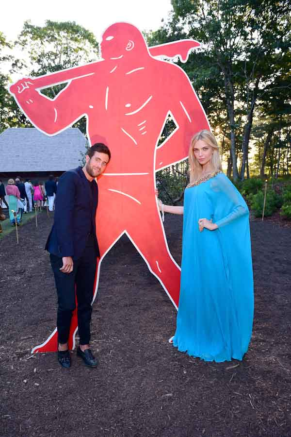 Kristian Laliberte, Emily Senko==Circus of Stillness... the power over wild beasts?: The 22nd Annual Watermill Center Summer Benefit & Auction==The Watermill Center, Watermill, NY==July 25, 2015==©Patrick McMullan==Photo - Sean Zanni/PatrickMcMullan.com====