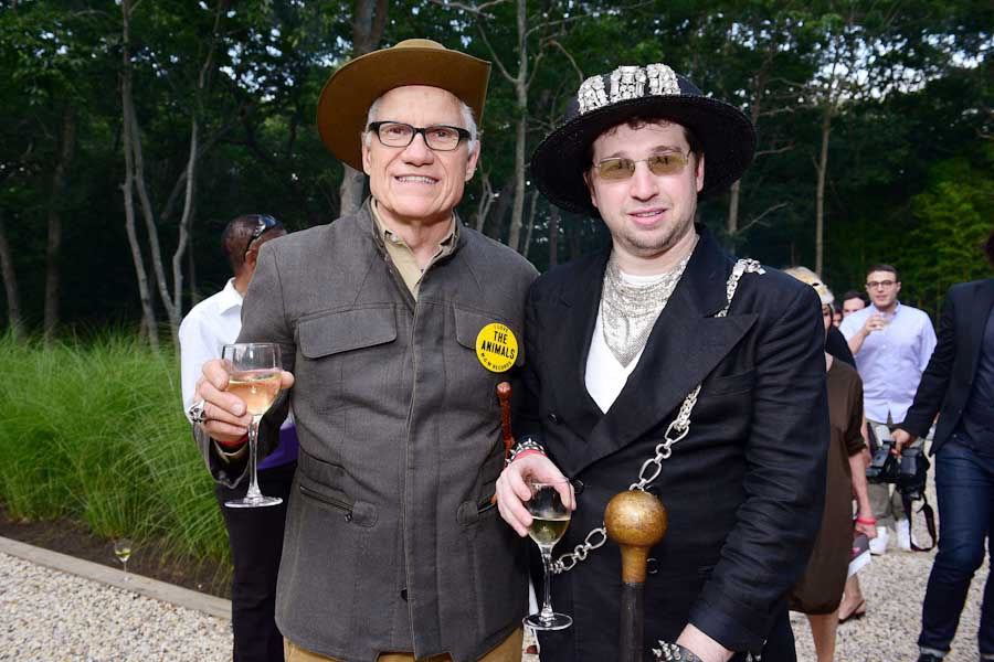 Brian Ramaekers, Ronnie Gensler==Circus of Stillness... the power over wild beasts?: The 22nd Annual Watermill Center Summer Benefit & Auction==The Watermill Center, Watermill, NY==July 25, 2015==©Patrick McMullan==Photo - Sean Zanni/PatrickMcMullan.com====