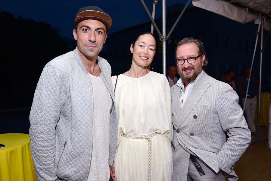Paris Kain, Cecilia Dean, Russell Piccione==Circus of Stillness... the power over wild beasts?: The 22nd Annual Watermill Center Summer Benefit & Auction==The Watermill Center, Watermill, NY==July 25, 2015==©Patrick McMullan==Photo - Sean Zanni/PatrickMcMullan.com====
