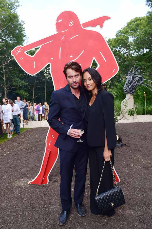 Emmanuel Fremin, Mary Nguyen==Circus of Stillness... the power over wild beasts?: The 22nd Annual Watermill Center Summer Benefit & Auction==The Watermill Center, Watermill, NY==July 25, 2015==©Patrick McMullan==Photo - Sean Zanni/PatrickMcMullan.com== ==