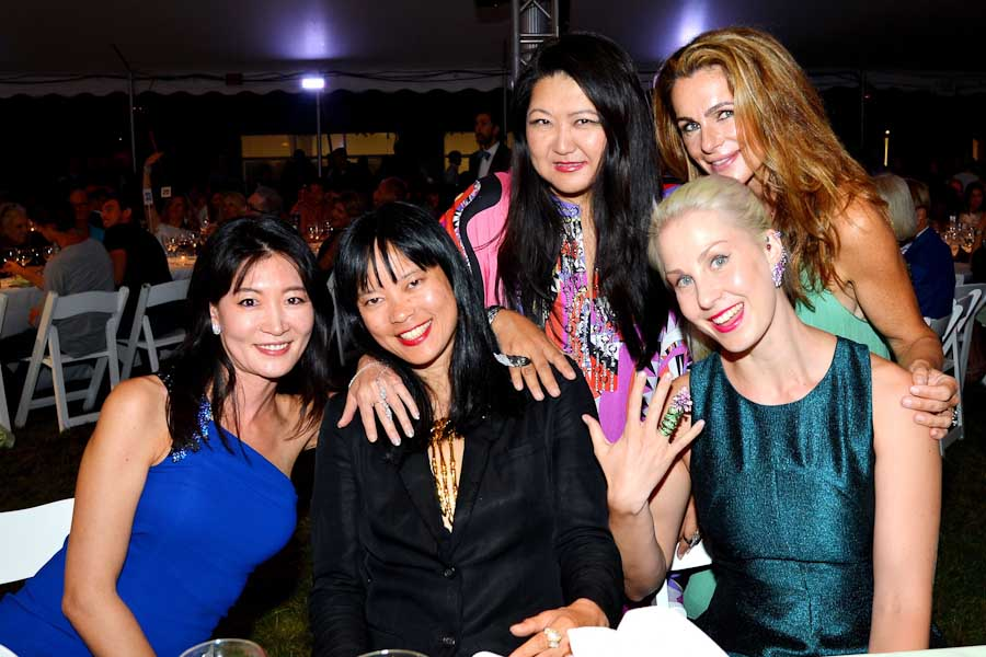 Missy Tunghwa, Joanne Loi, Susan Shin, Sara Mare, Margaret Luce==Circus of Stillness... the power over wild beasts: The 22nd Annual Watermill Center Summer Benefit & Auction==The Watermill Center, Water Mill, NY==July 25, 2015==©Patrick McMullan==Photo - Patrick McMullan/PatrickMcMullan.com== ==