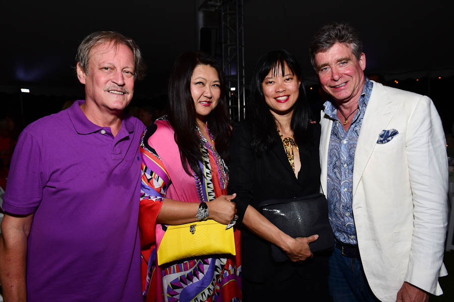 Patrick McMullan, Susan Shin, Joanne Loi, Jay McInerney==Circus of Stillness... the power over wild beasts?: The 22nd Annual Watermill Center Summer Benefit & Auction==The Watermill Center, Watermill, NY==July 25, 2015==©Patrick McMullan==Photo - Sean Zanni/PatrickMcMullan.com== ==