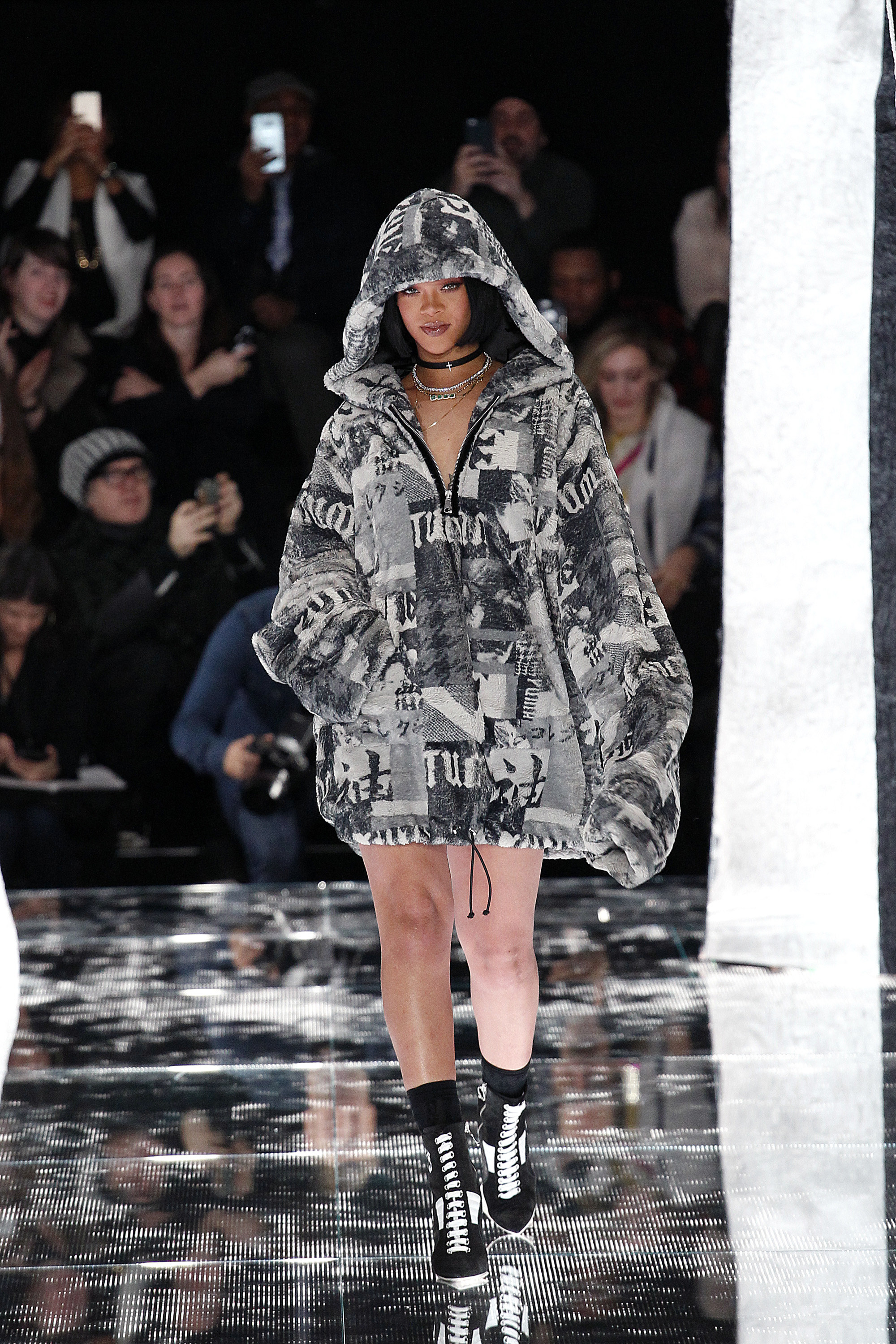 rihanna s fenty x puma new york fall winter 2016 fashion show the untitled magazine. Black Bedroom Furniture Sets. Home Design Ideas