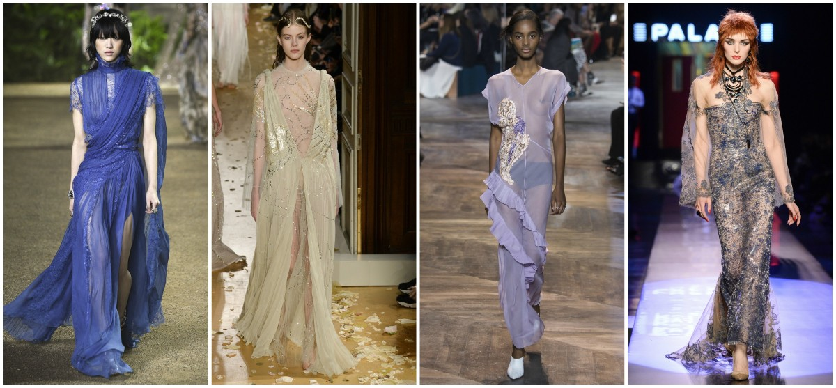 Sheer Spring 2016 Couture looks from Valentino, Elie Saab, Dior and Jean Paul Gaultier