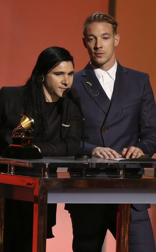 Skrillex & Diplo accepting their Grammy for Best Dance Recording.