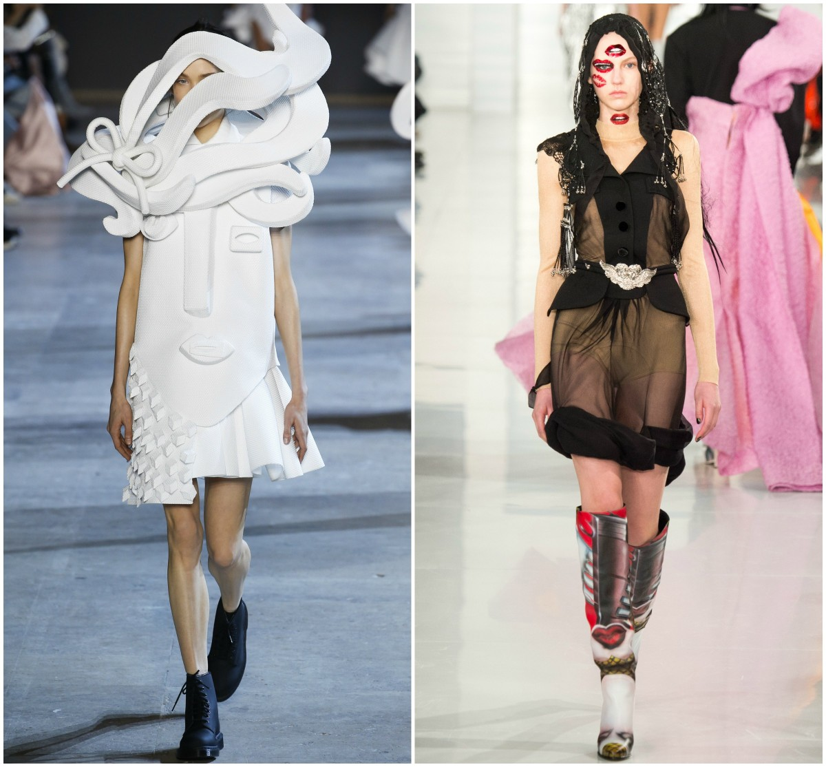 Spring 2016 Couture looks from Viktor & Rolf and Maison Margiela