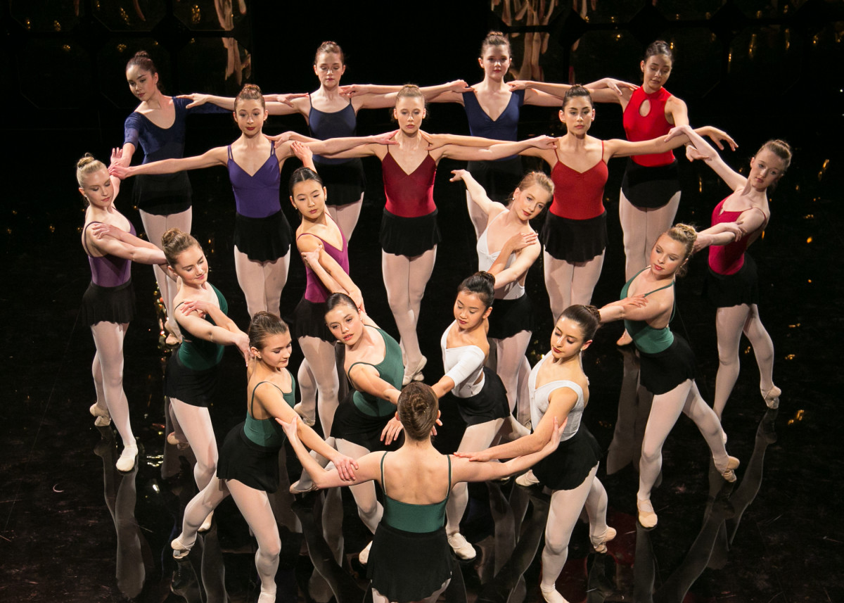 Students from the American School of Ballet