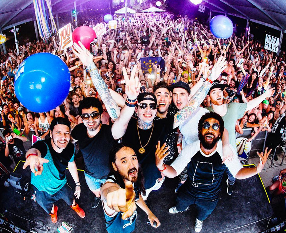 Steve Aoki and the Dim Mak crew in Miami