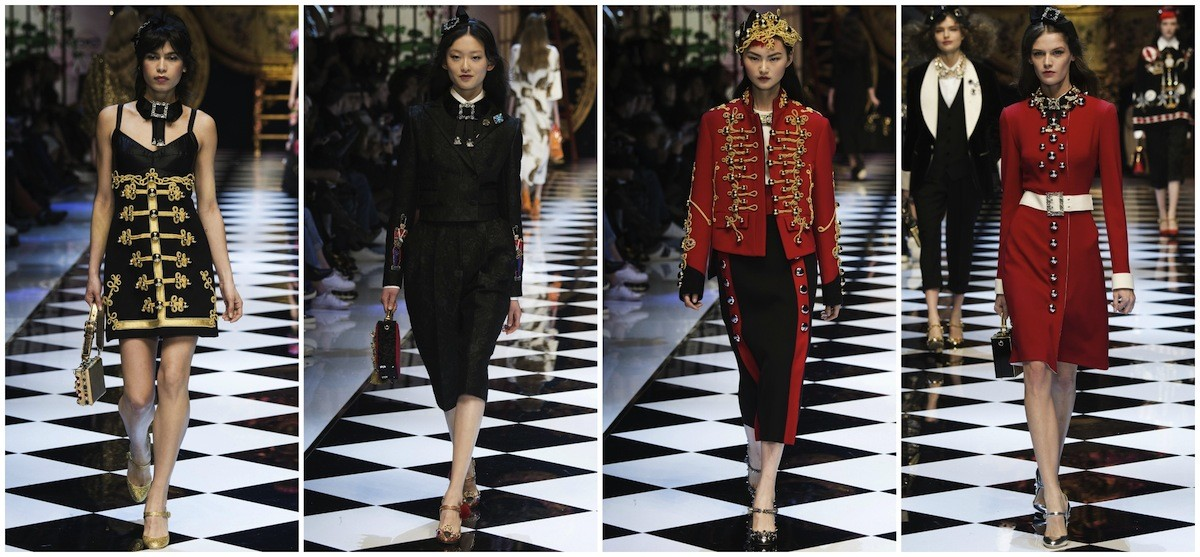 Toy soldier looks from Dolce & Gabbana''s FW16 collection in Milan