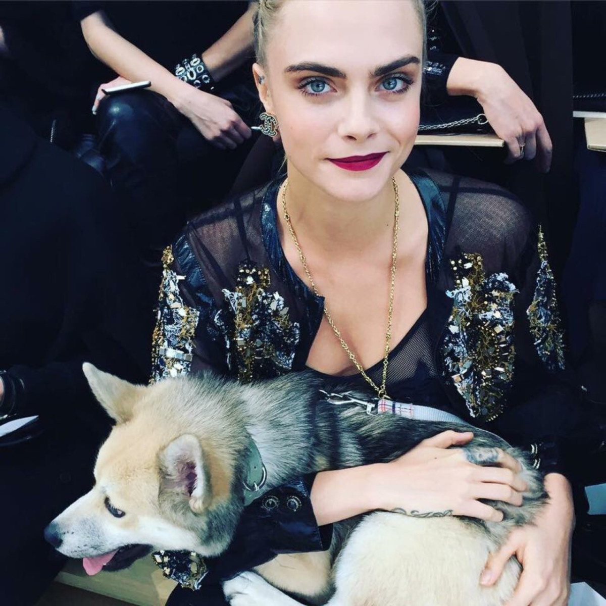 Delevingne at the Chanel 2016 Haute Couture Show