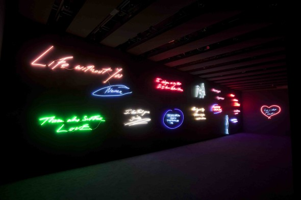 Neon Works by Tracey Emin courtesy of The Hayward Gallery