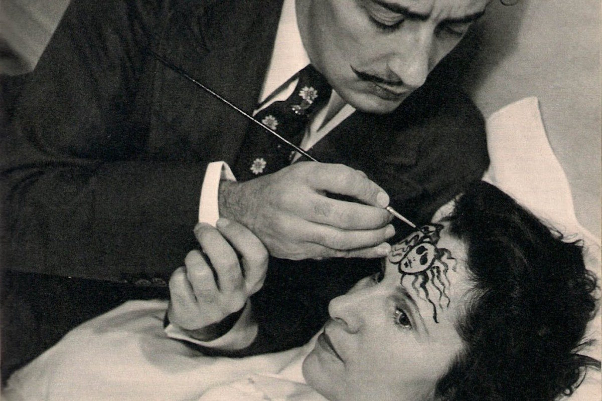 Gala Diakonova with Salvador Dali