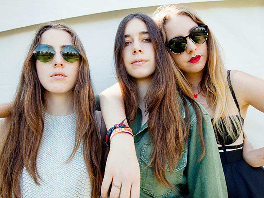 Haim at Lollapalooza 2013.