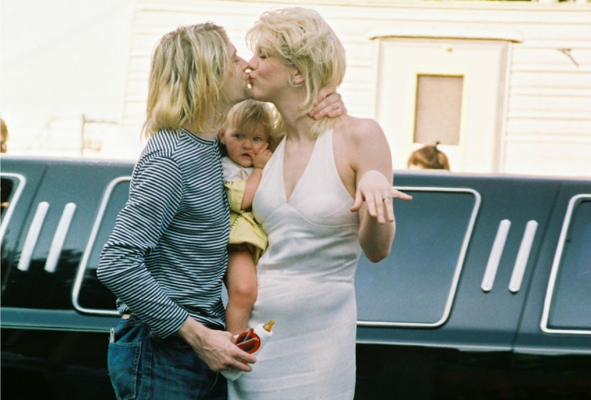 Kurt Cobain, Courtney Love and Francis Bean Cobain 1993 MTV Music Video Awards1993 held at the Gibson Amphitheatre Los Angeles, California - 02.09.93 Featuring: Kurt Cobain, Courtney Love and Francis Bean Cobain Where: Las Vegas, Nevada, United States When: 02 Sep 1993 Credit: Chris Connor / WENN