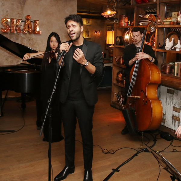 """""""NEW YORK, NY - APRIL 16:  Recording artist Zaheer Saleh performs during  the At Large Magazine dinner in Honor of cover star Jack Houston at Elyx House on April 16, 2016 in New York City.  (Photo by Bennett Raglin/Getty Images for Absolut Elyx)"""""""