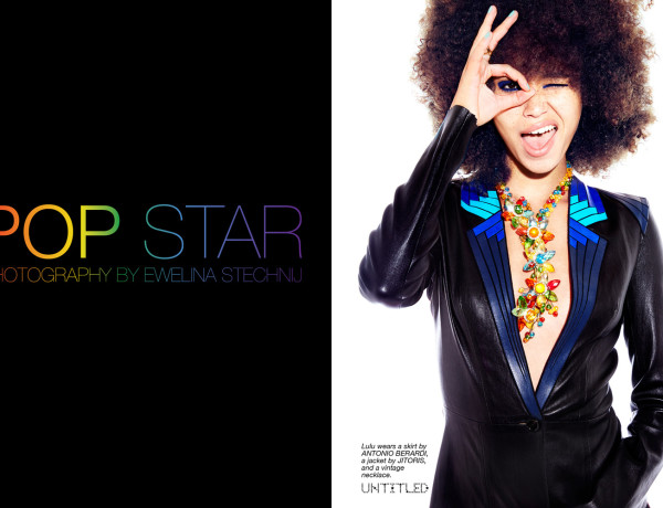 Pop Star - The Untitled Magazine - Photography by  Ewelina Stechnij - Model Lulu Stone