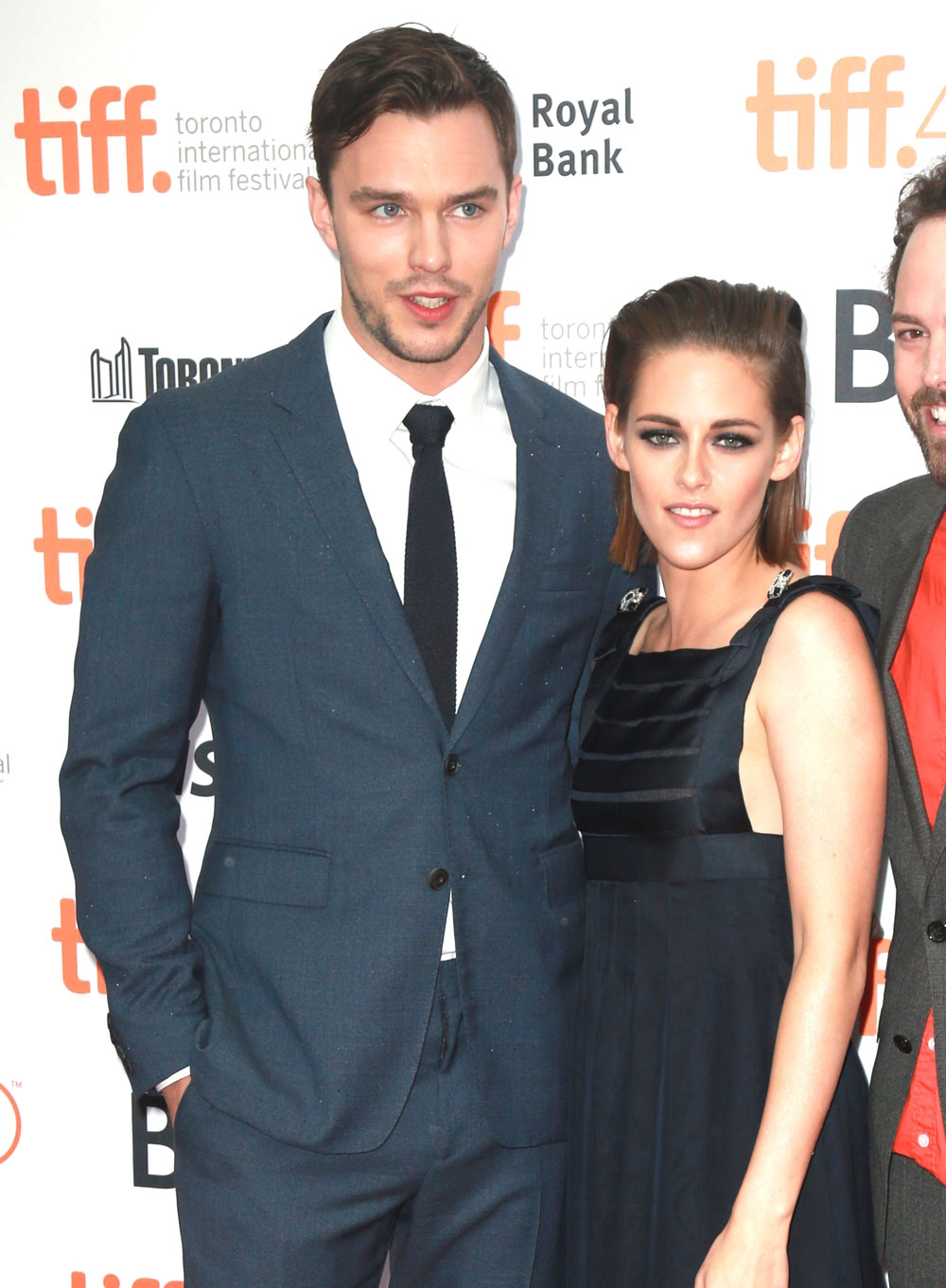 Nicholas Hoult and Kristen Stewart at the Tribeca premiere of 'Equals'