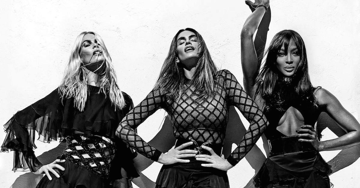 Claudia Schiffer, Cindy Crawford, and Naomi Campbell for SS16 Balmain Campaign. Photography by Steven Klein.