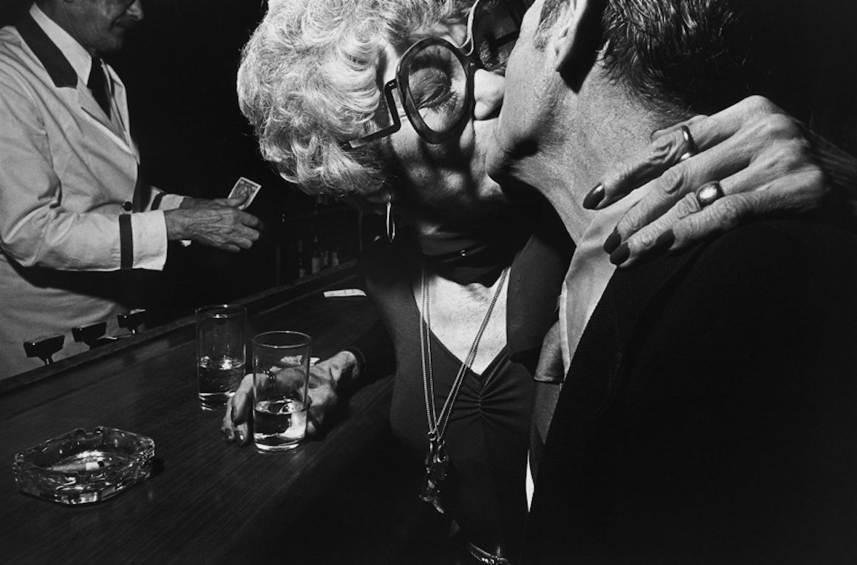 Older Couple in Bar, New York City, 1977
