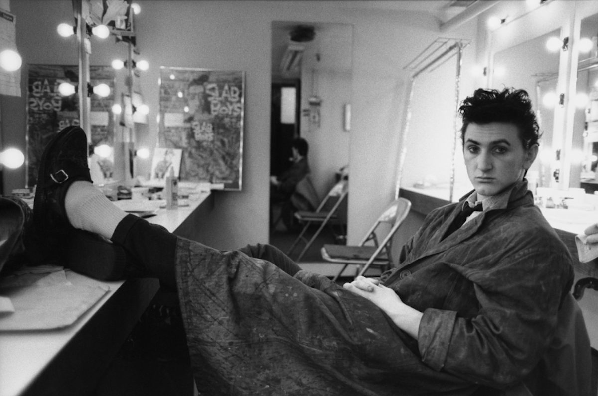Sean Penn in his dressing room, Manhattan, New York, 1983