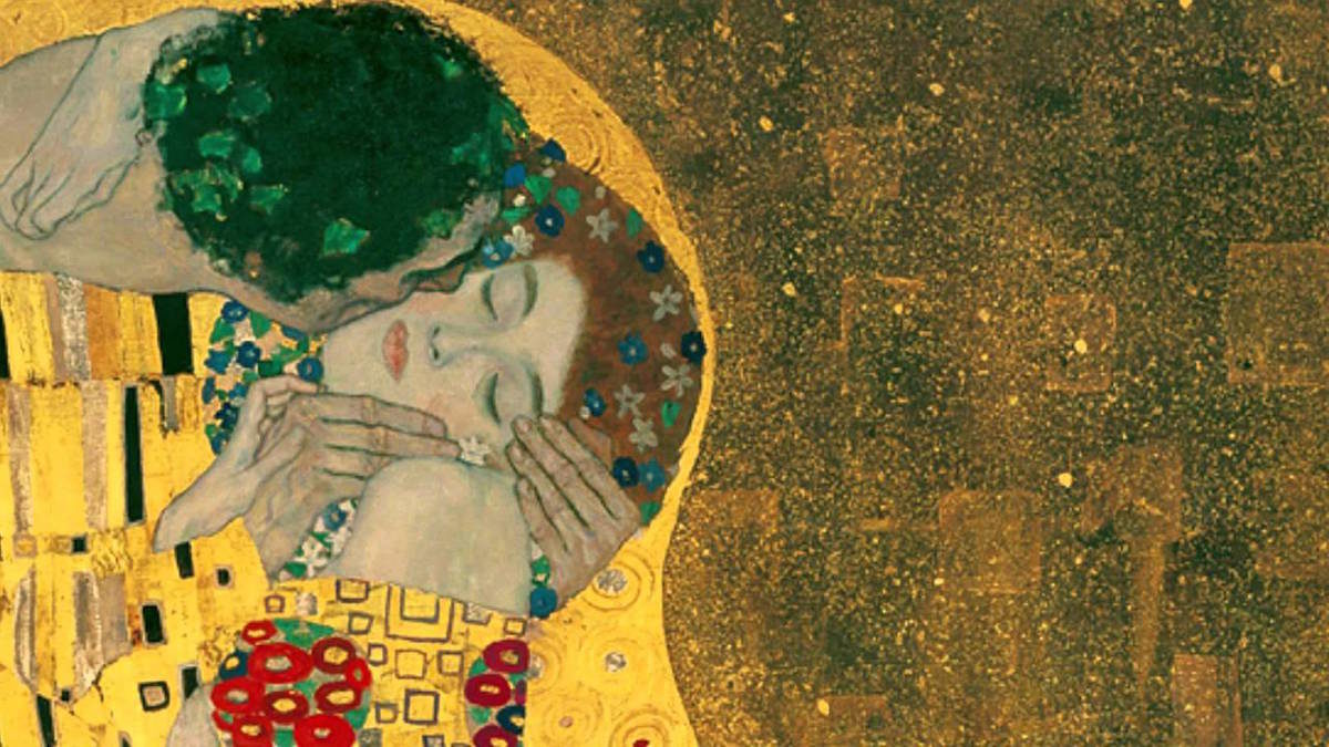 """The Kiss"", Klimt 1907"