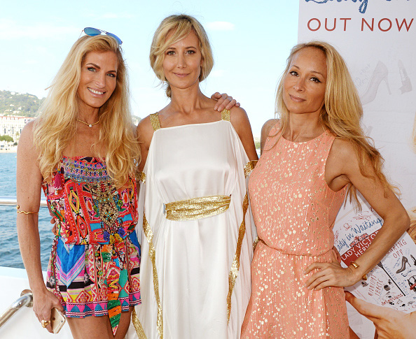 "CANNES, FRANCE - MAY 18: (L to R) Laura Comfort, Lady Victoria Hervey and Indira Cesarine attend a VIP cocktail party hosted by Lady Victoria Hervey to celebrate her new book ""Lady In Waiting"" aboard the M/Y Fathom during the 69th Cannes Film Festival on May 18, 2016 in Cannes, France. (Photo by David M. Benett/Dave Benett/Getty Images)"