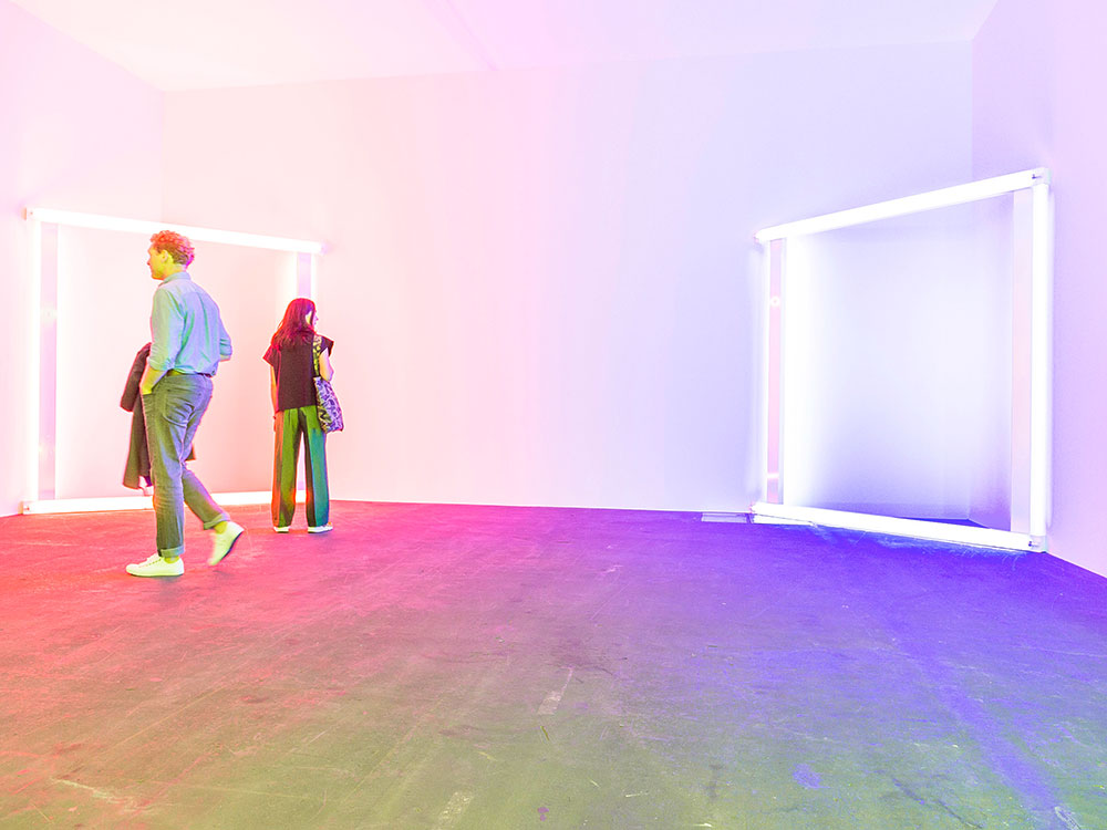 Dan Flavin's 'European Couples' was featured in the Unlimited section of Basel in 2015