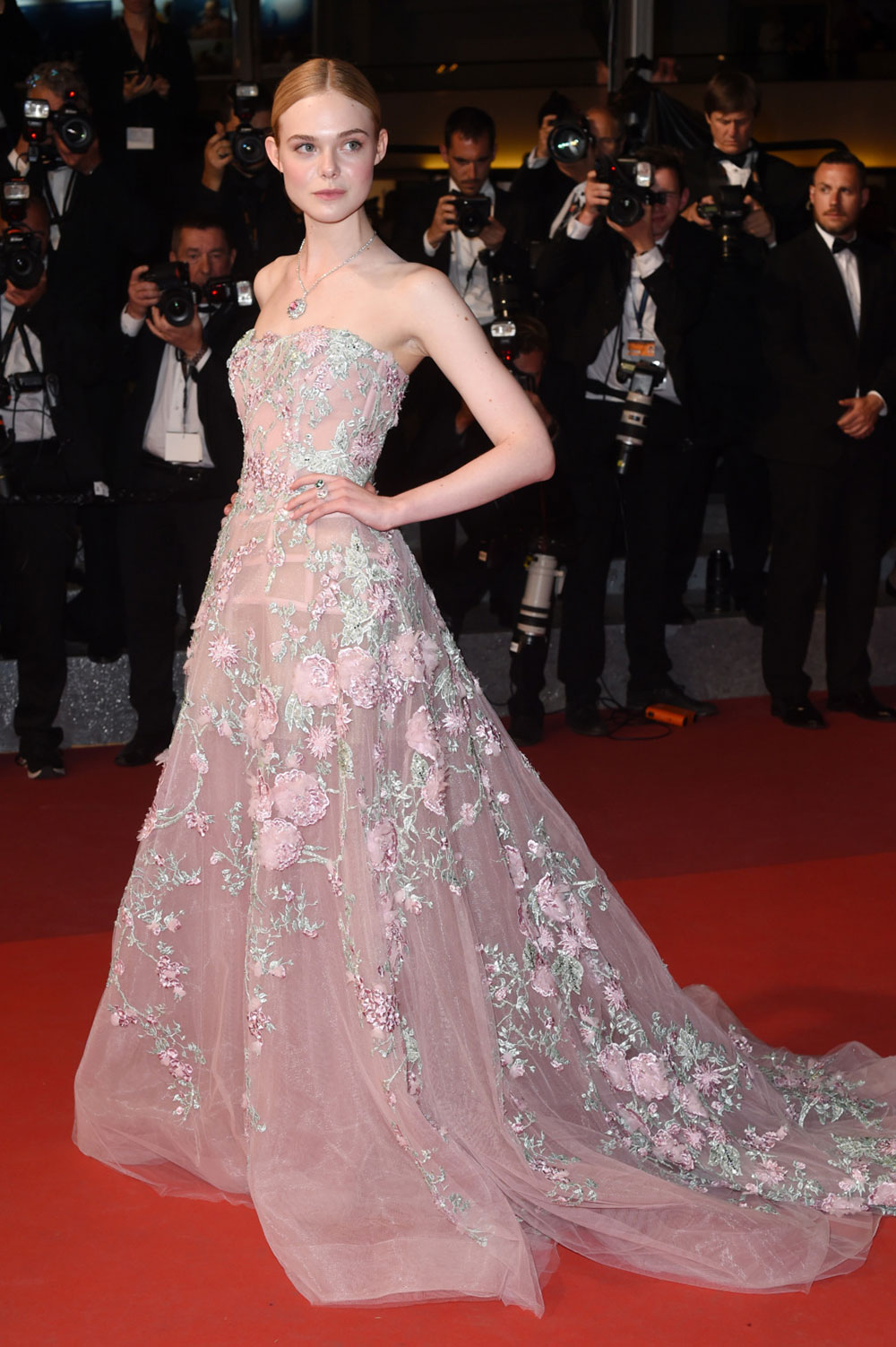 Elle Fanning at the Cannes premiere of 'The Neon Demon'