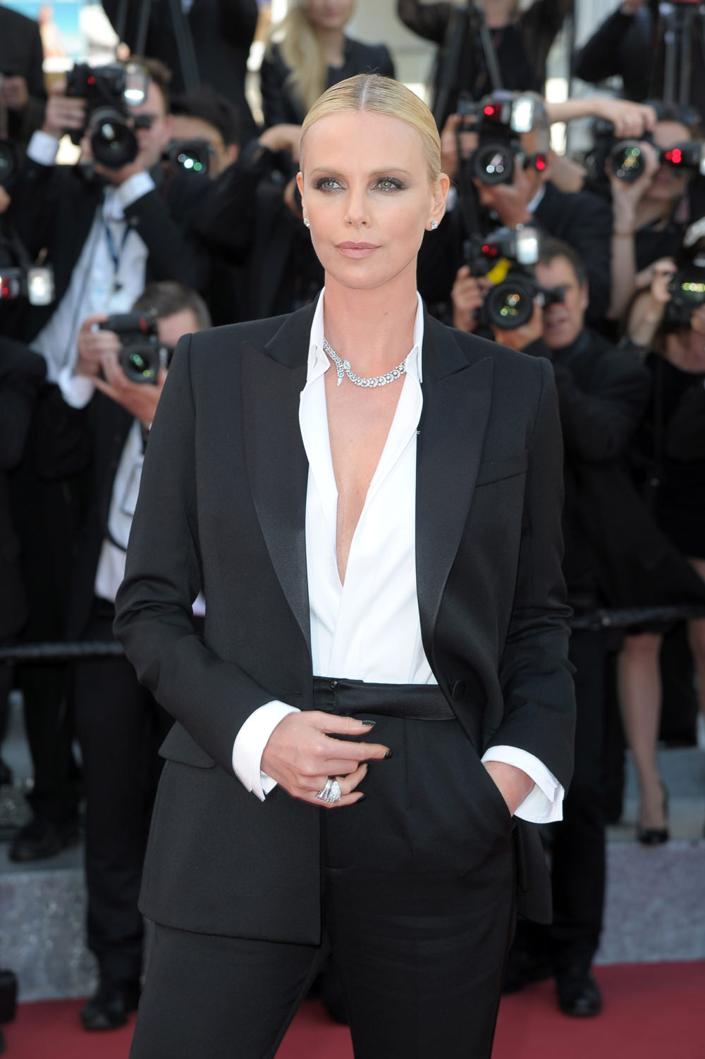 Charlize Theron at the Cannes premiere of 'The Last Face'