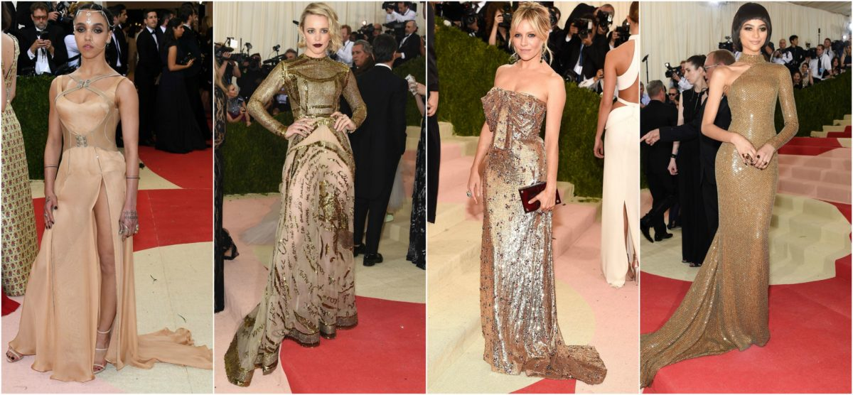 FKA Twigs in Atelier Versace, Rachel McAdams in Valentino Haute Couture, Sienna Miller in Gucci, and Zendaya in Michael Kors
