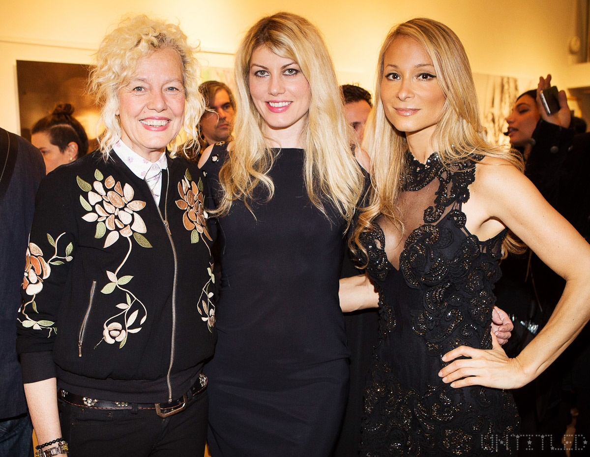 "Ellen Von Unwerth, Meredith Ostrom, Indira Cesarine at ""In The Raw: The Female Gaze on The Nude"" Exhibit Opening - The Untitled Space Gallery, New York. Photography by Andreas Hofweber"