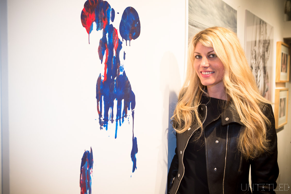 "Artist Meredith Ostrom at ""In The Raw: The Female Gaze on The Nude"" Exhibit Opening - The Untitled Space Gallery, New York. Photography by Andreas Hofweber"