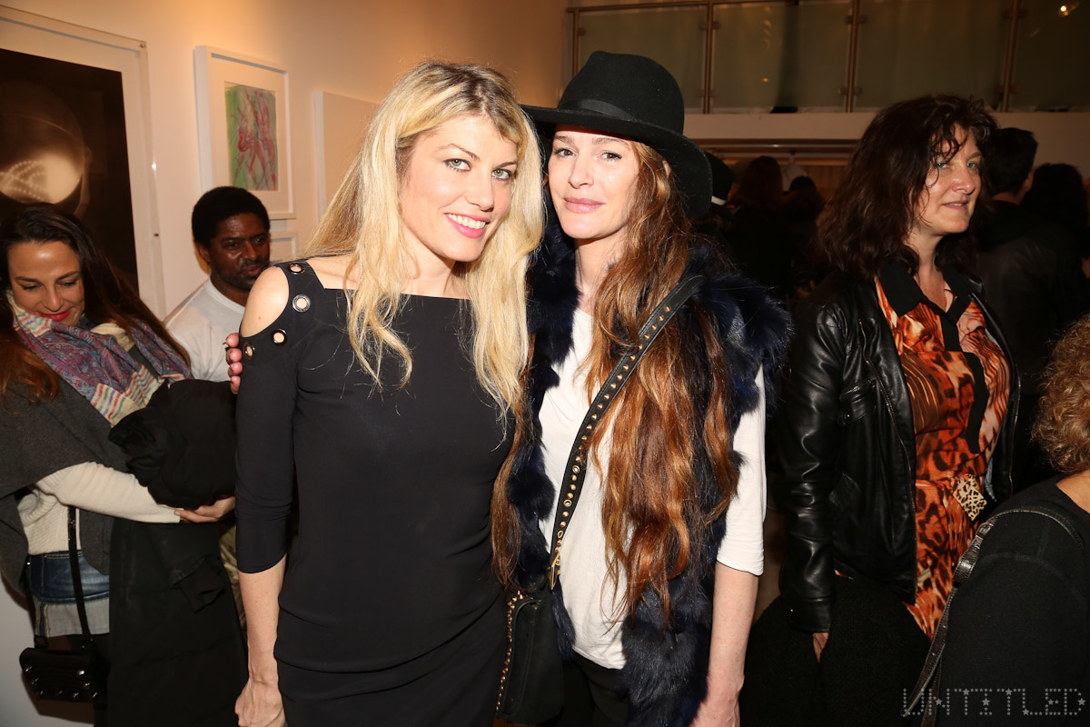 "Meredith Ostrom, Tatyana Murray at ""In The Raw: The Female Gaze on The Nude"" Exhibit Opening - The Untitled Space Gallery, New York. Photography by Dustin Wayne Harris"