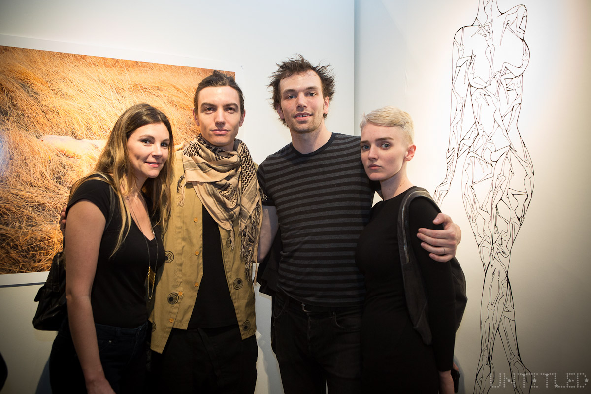 """In The Raw: The Female Gaze on The Nude"" Exhibit Opening - The Untitled Space Gallery, New York. Photography by Andreas Hofweber"
