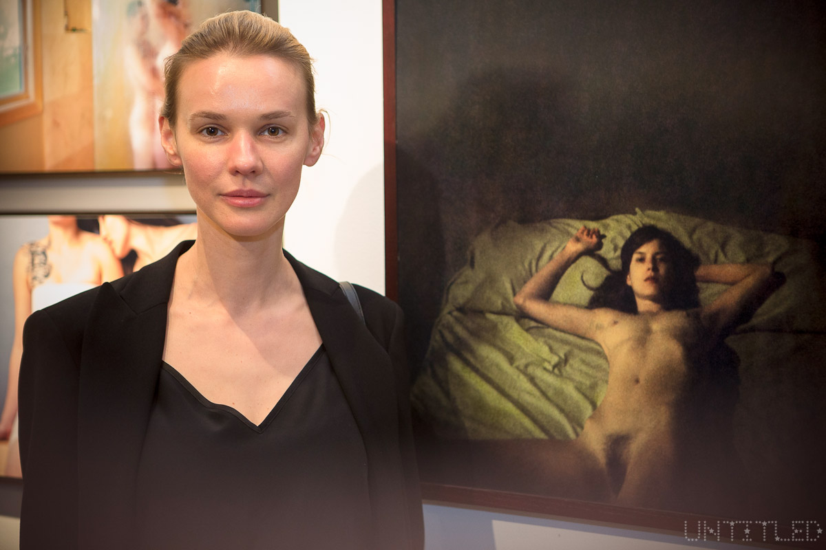"Artist Aneta Bartos at ""In The Raw: The Female Gaze on The Nude"" Exhibit Opening - The Untitled Space Gallery, New York. Photography by Andreas Hofweber"