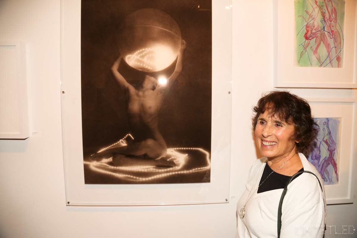 "Artist Lynn Bianchi at ""In The Raw: The Female Gaze on The Nude"" Exhibit Opening - The Untitled Space Gallery, New York. Photography by Dustin Wayne Harris"