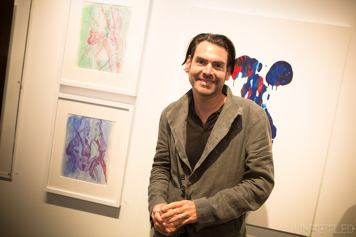"Ian Gerard at ""In The Raw: The Female Gaze on The Nude"" Exhibit Opening - The Untitled Space Gallery, New York. Photography by Andreas Hofweber"