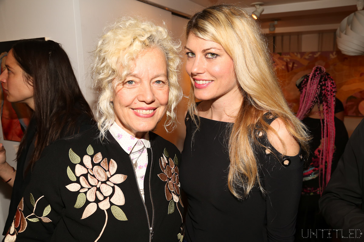 "Ellen Von Unwerth, Meredith Ostrom at ""In The Raw: The Female Gaze on The Nude"" Exhibit Opening - The Untitled Space Gallery, New York. Photography by Dustin Wayne Harris"