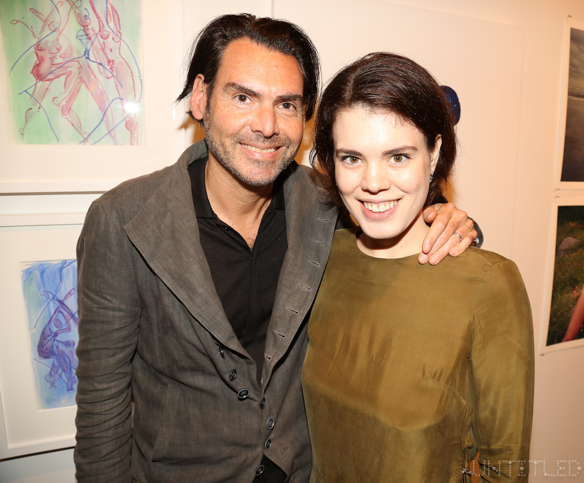 "Ian Gerard at ""In The Raw: The Female Gaze on The Nude"" Exhibit Opening - The Untitled Space Gallery, New York. Photography by Dustin Wayne Harris"