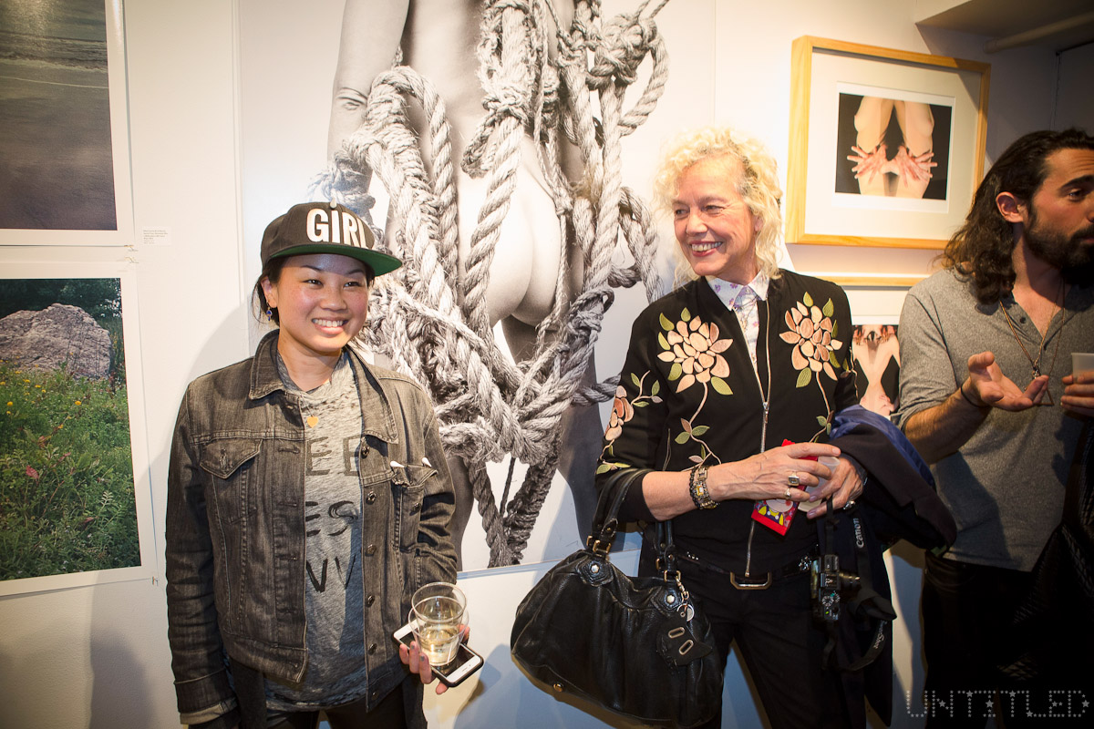 "Ellen Jong and Ellen Von Unwerth at ""In The Raw: The Female Gaze on The Nude"" Exhibit Opening - The Untitled Space Gallery, New York. Photography by Andreas Hofweber"